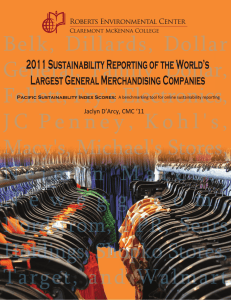 2011 Sustainability Reporting of the World's Largest General