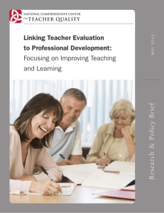 Linking Teacher Evaluation to Professional Development: Focusing