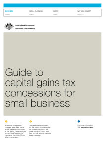 Guide to capital gains tax concessions for small