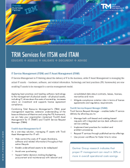 TRM Services for ITSM and ITAM