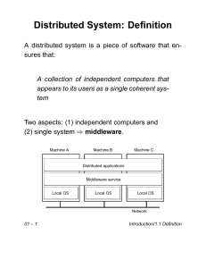 Distributed System: Definition