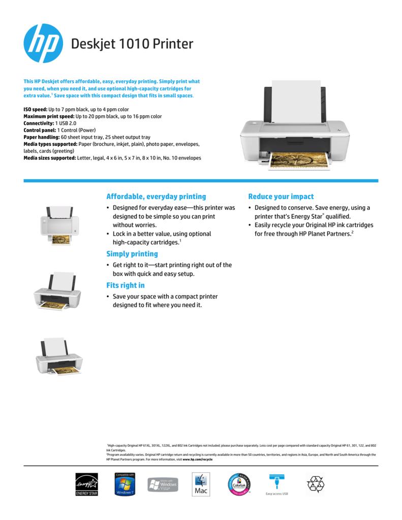 Deskjet 1010 Printer