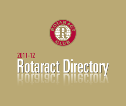Rotract Directory 2011/12