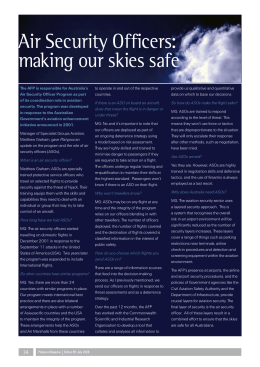 Air Security Officers: making our skies safe