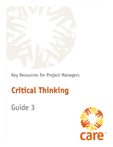 Key Resources for Project Managers -- Critical Thinking