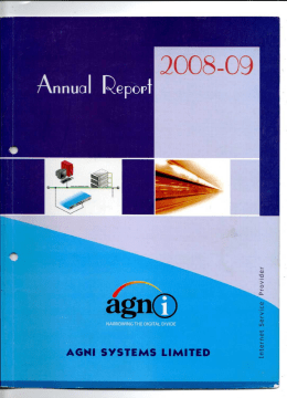 AGNI SYSTEMS LIMITED