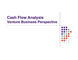 Cash Flow Analysis - Shidler College of Business