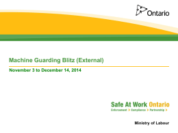 Machine Guarding Blitz - Workplace Safety North