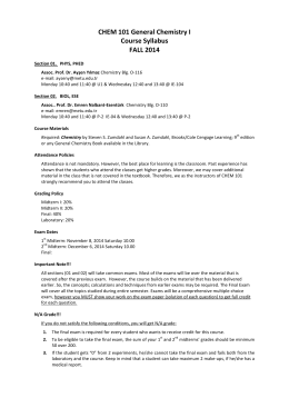 2014 fall syllabus pta i Wallace community college student 2014-2015 student handbook pta program ii syllabus will outline specific procedures to be followed in the case of late.
