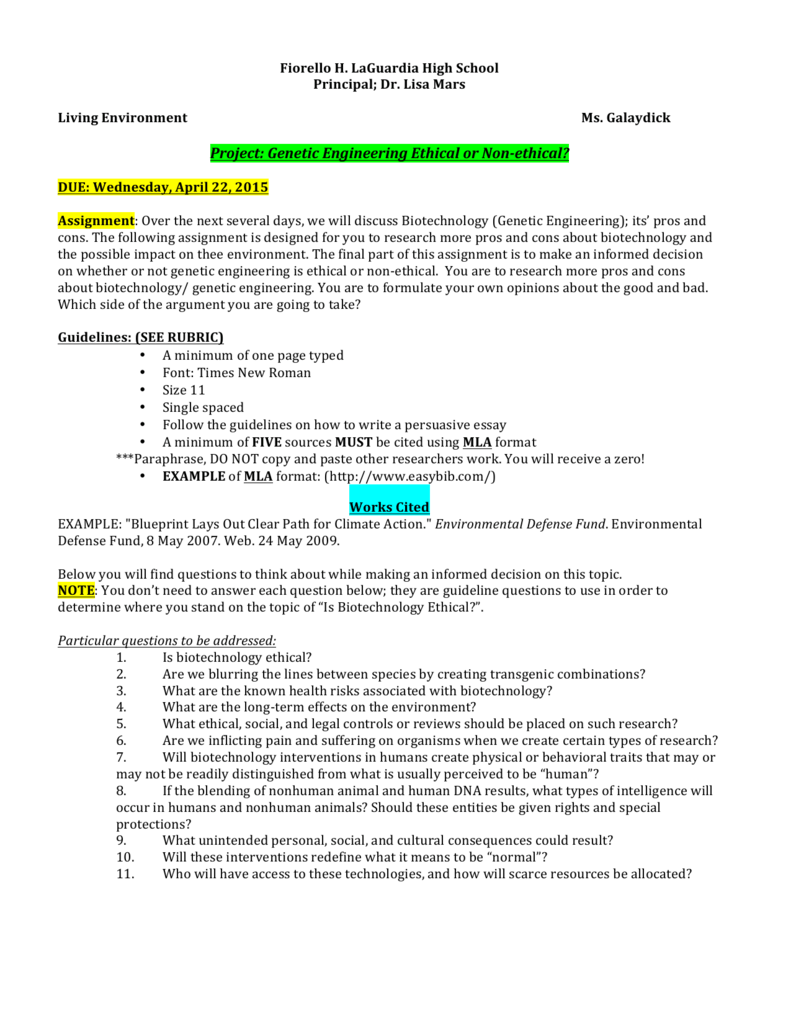 how to write an essay on genetic engineering