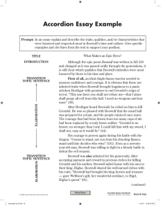 Accordion Essay Example