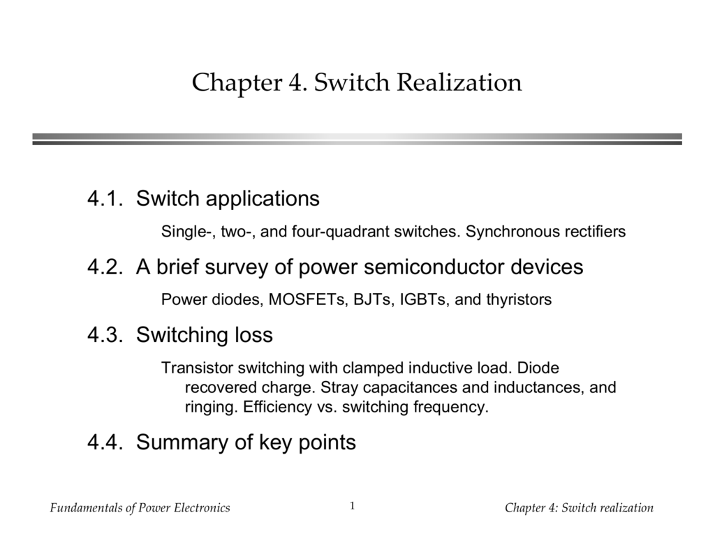 Chapter 4 Switch Realization Thyristor Equivalent Circuit