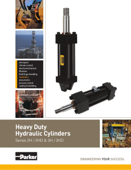 Heavy Duty Hydraulic Cylinders Catalog by Parker