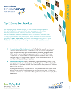 Top 12 Survey Best Practices