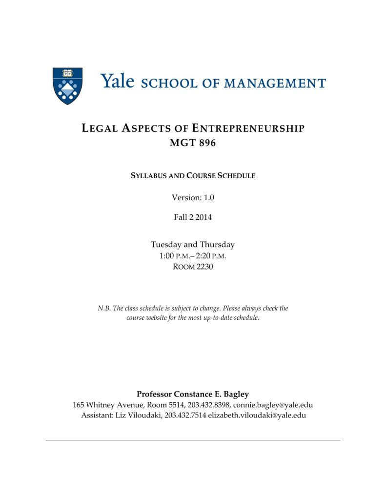 the legal aspects of entrepreneurship