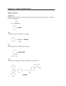 Chapter 24—Amines and Heterocycles