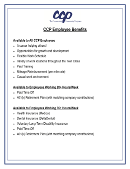 CCP Employee Benefits