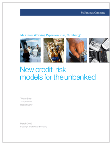 New credit-risk models for the unbanked