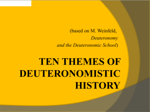 TEN THEMES OF DEUTERONOMISTIC HISTORY