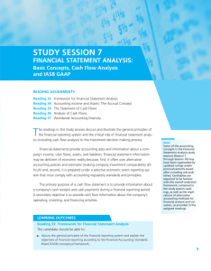 STUDY SESSION 7 FINANCIAL STATEMENT ANALYSIS