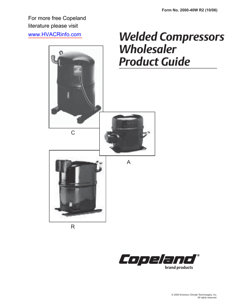 Welded Compressors Wholesaler Product Guide on