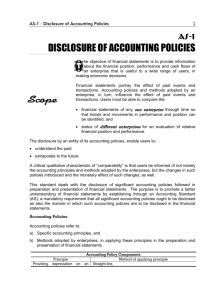 as-1: disclosure of accounting policies