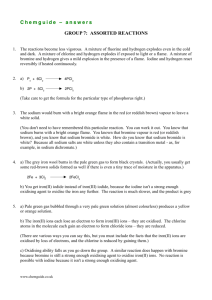Chemguide – answers GROUP 7: ASSORTED REACTIONS