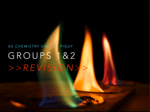 groups 1, 2 & 7 reactions.