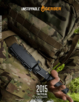 2015 Gerber Tactical Catalog
