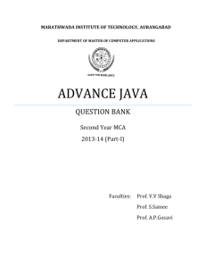 Advance JAVA-Question bank - MIT