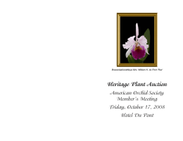 Heritage Plant Auction - American Orchid Society