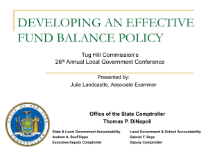 developing an effective fund balance policy
