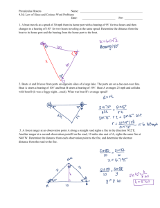 Pre-Calculus Name LAW OF SINES/COSINES – word problems