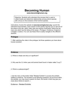Becoming Human_Part 2 worksheet - NOVA Becoming Human Part 2 Birth ...