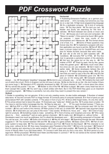 PDF Crossword Puzzle