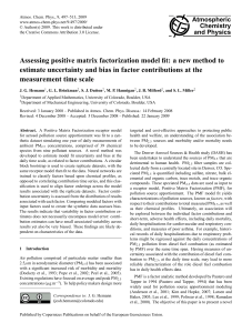 Assessing positive matrix factorization model fit: a new method to