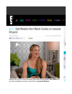Gold Medalist Kerri Walsh Crushes on Leonardo