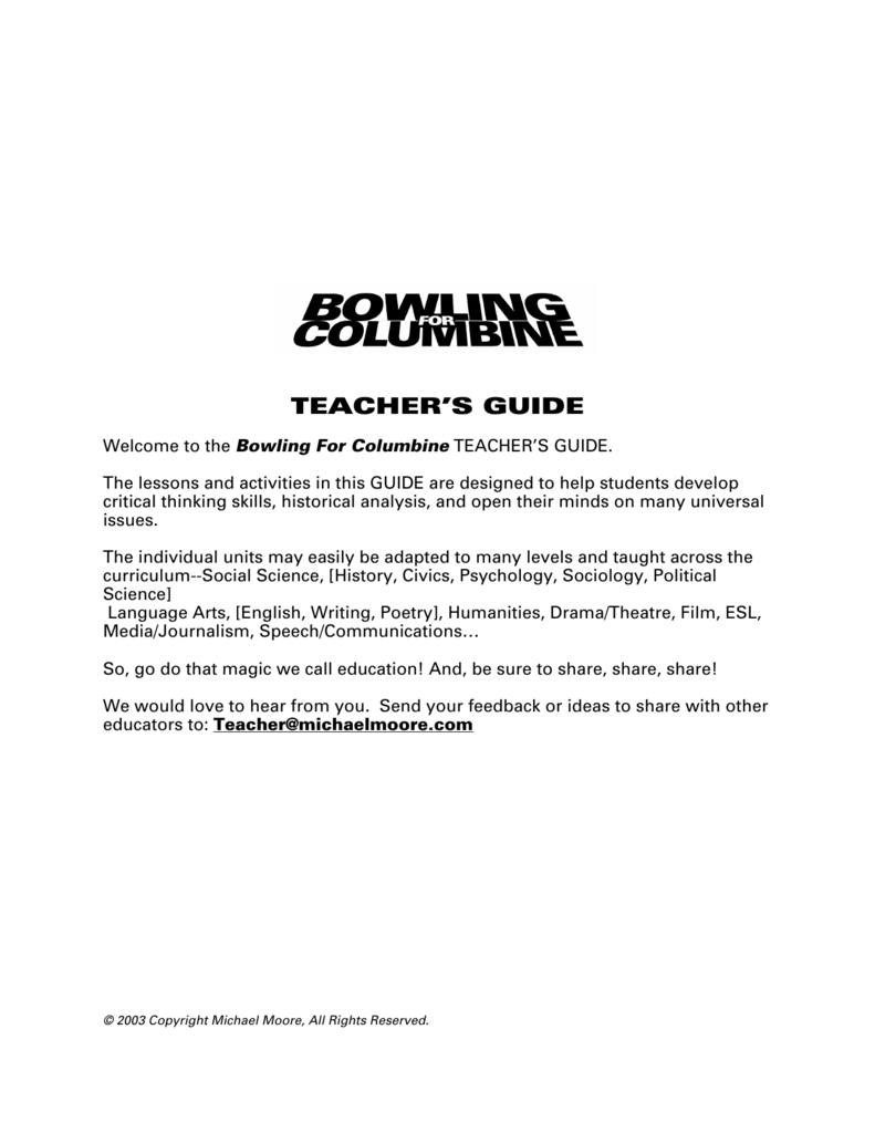 bowling for columbine main points