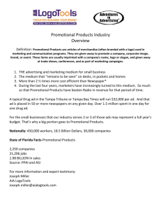 Promotional Products Industry Overview