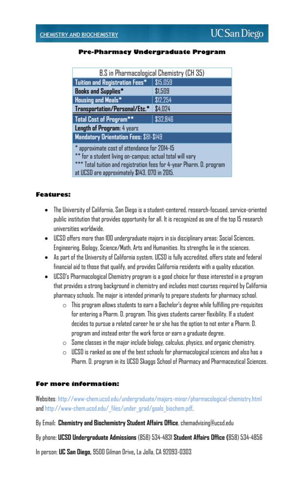 Uc San Diego Majors >> Ucsdpharmacist Rivercrest Preparatory