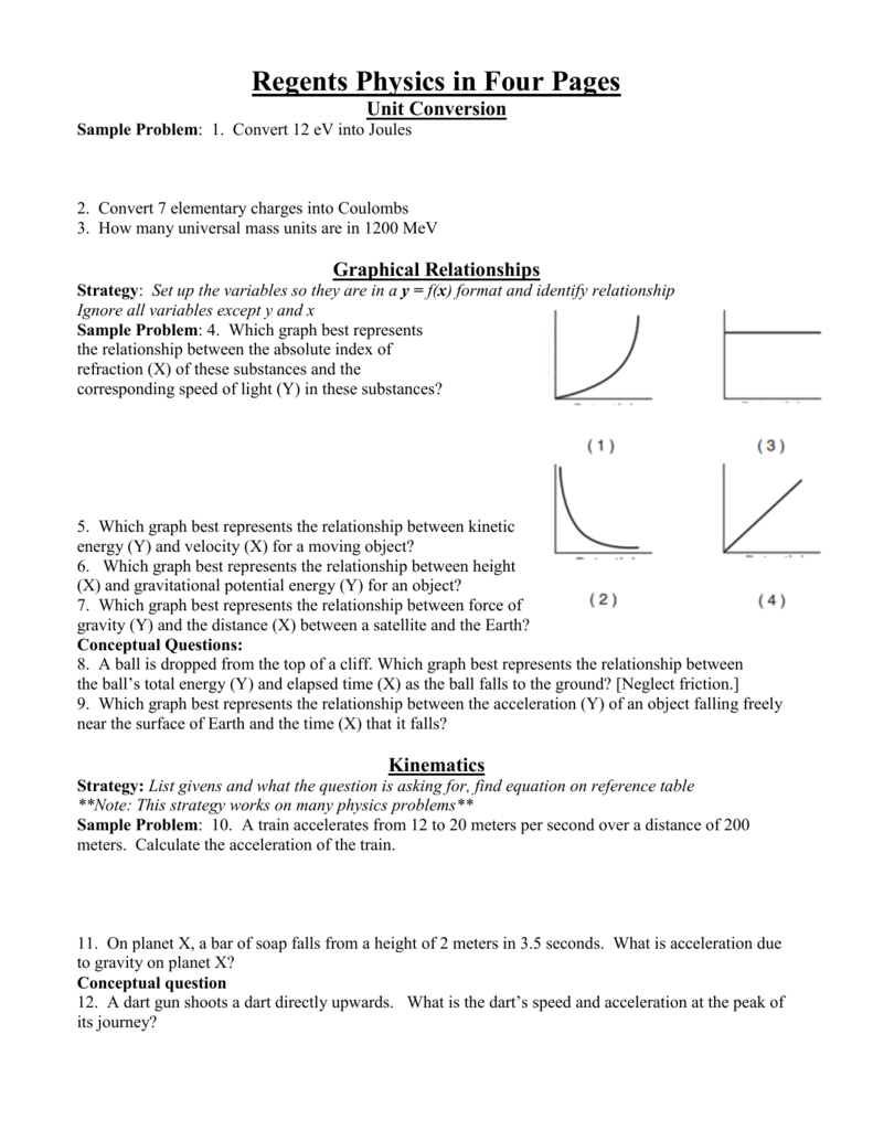 Regents physics in four pages hicksville public schools nvjuhfo Images