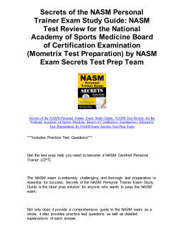Secrets of the NASM Personal Trainer Exam Study