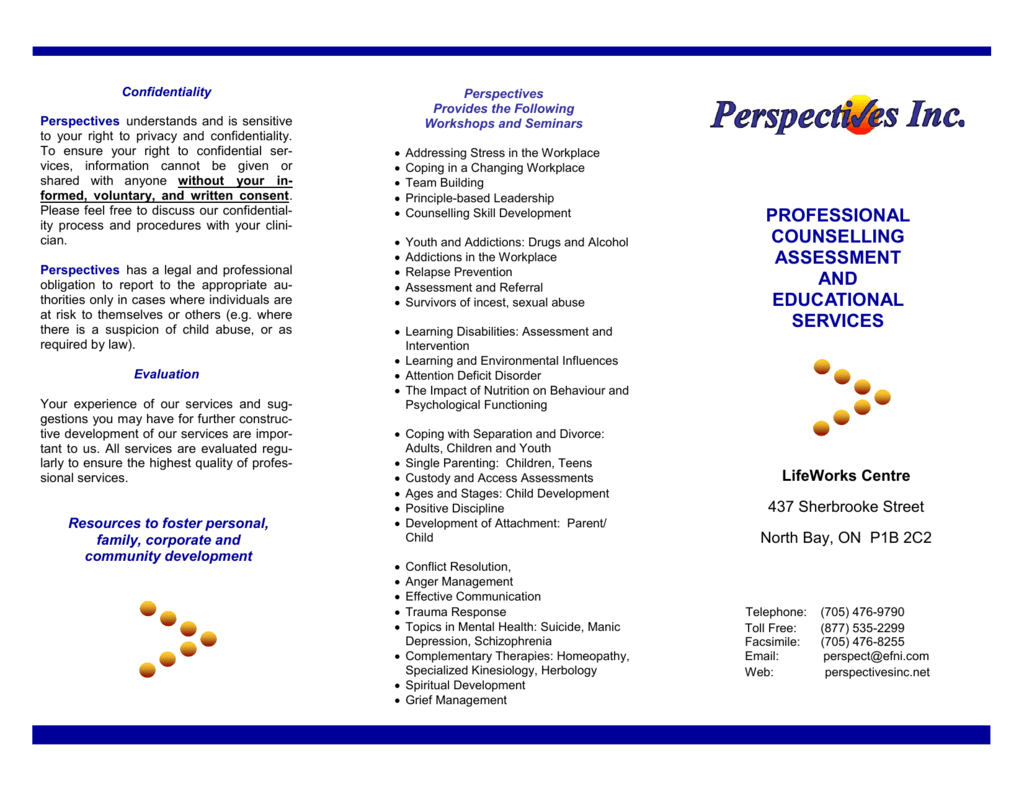 PROFESSIONAL COUNSELLING ASSESSMENT