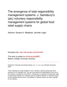 The emergence of total responsibility management