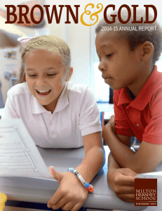 &2014-15 ANNUAL REPORT - Milton Hershey School