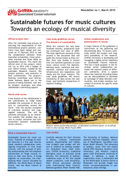 Sustainable futures for music cultures Towards an ecology of