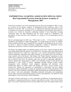 experiential learning association special issue