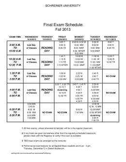 Spring 2013 Course Schedule