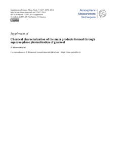 Supplement of Chemical characterization of the main products