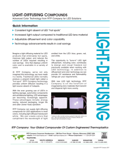 LED Light-Diffusing Compounds - Innovation Bulletin